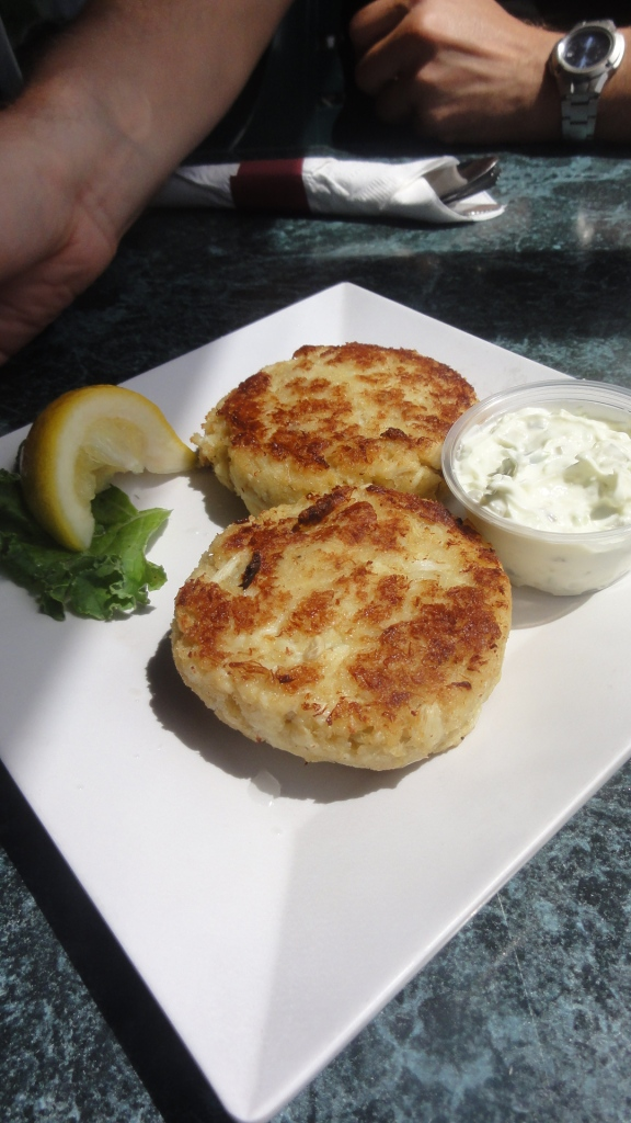 The crab cakes were loaded with fresh crab meat.