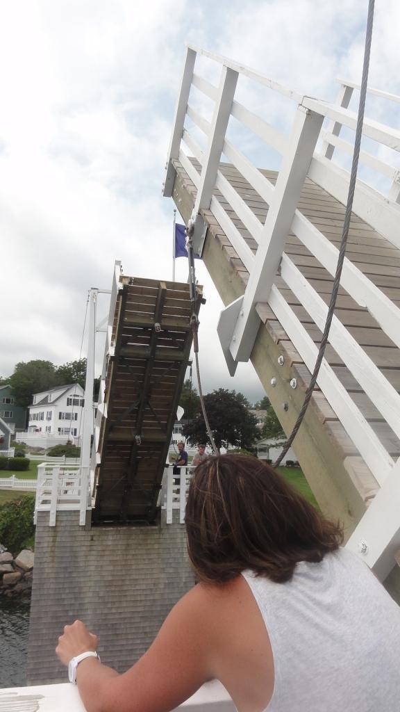 The foot bridge at Perkin's Cove