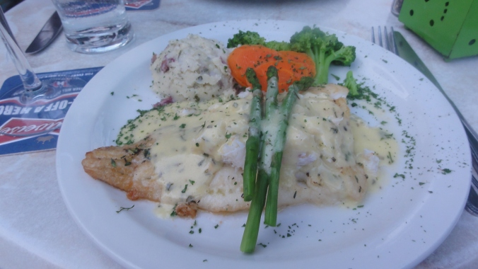 Haddock with a bechamel sauce