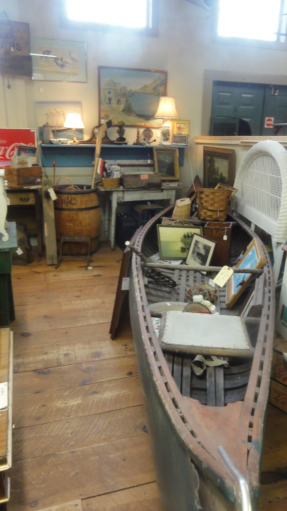 Antiques in a boat