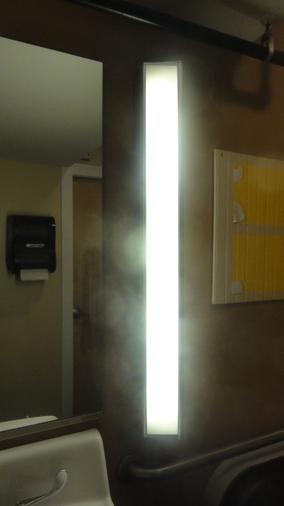 James Turrell had some art in the bathroom.