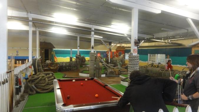 3-hole mini golf course