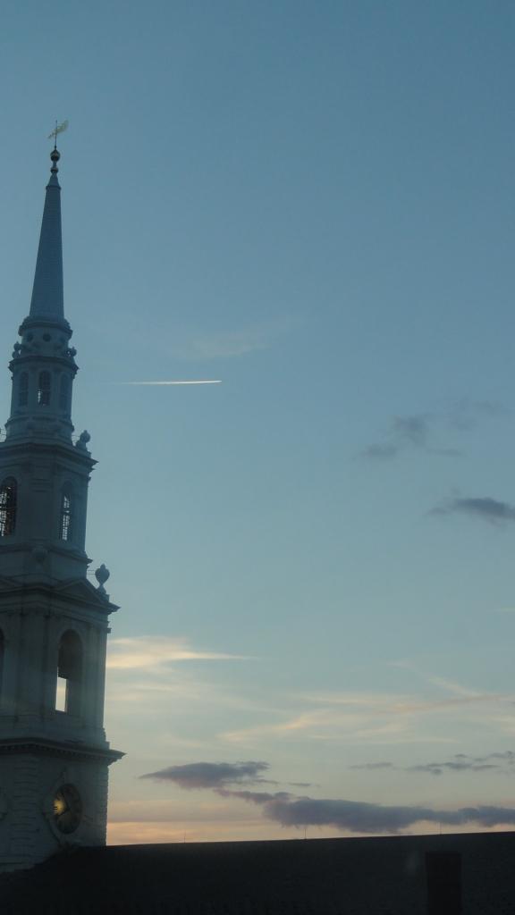 Night falls on Providence