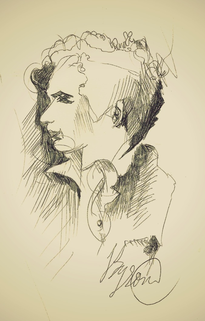 Quick sketch of Lord Byron
