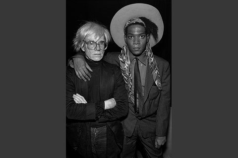 Warhol with Baquiat