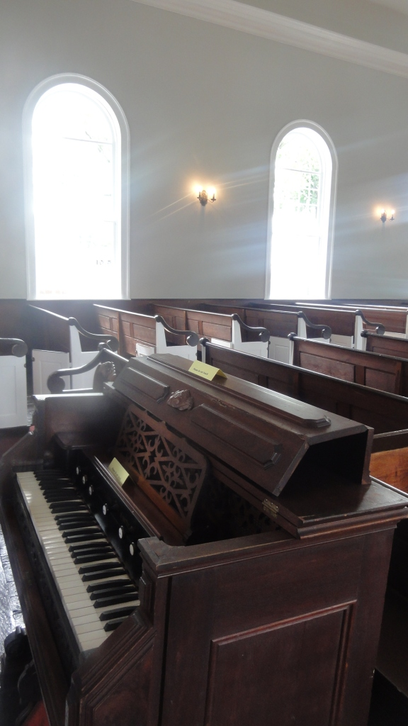 As a family you needed to own a pew to sit there. The only way you could sit in church without owning a pew, is if a family invited you into their space.