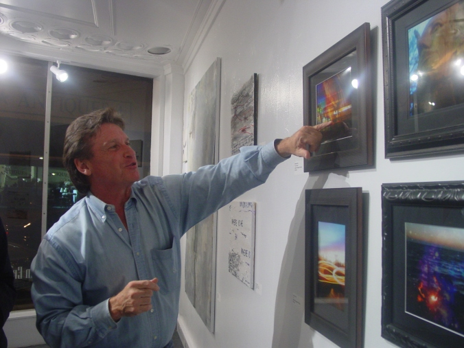 Viewer #2 - pointing out different images he sees in 'San Simeon' - he was hugely complimentary toward my vision