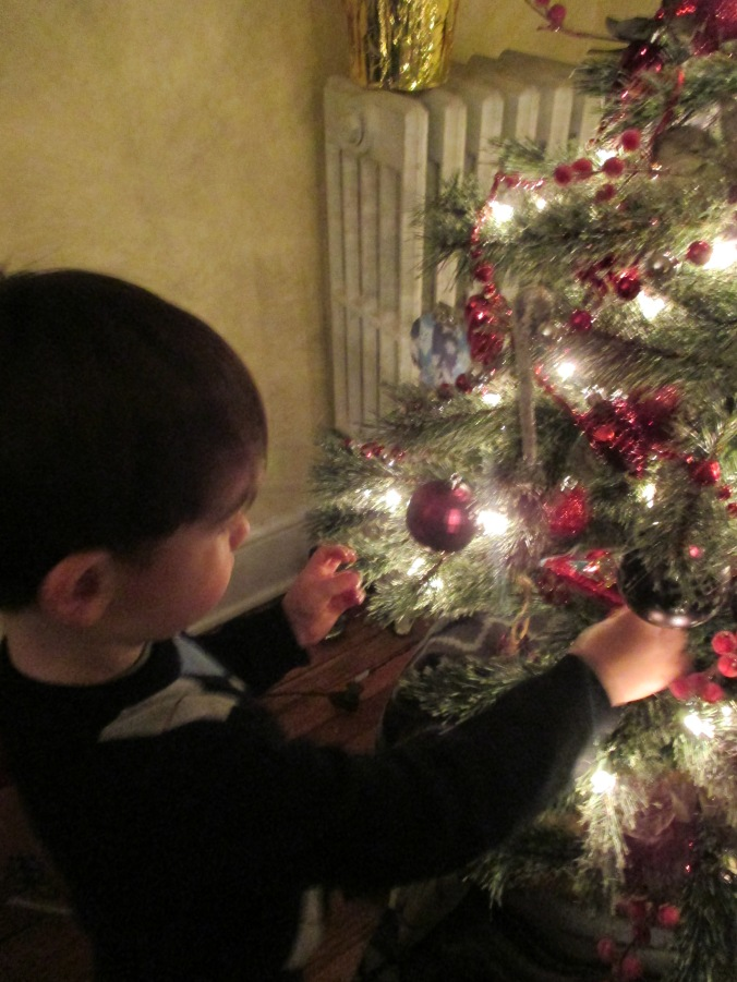 Admiring the ornaments